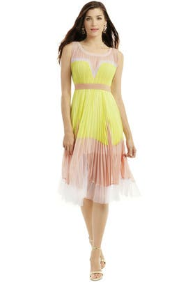 Sweet Lemon Sorbet Dress by BCBGMAXAZRIA
