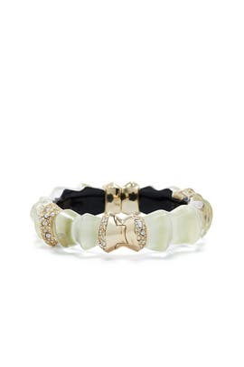 Lucite and Crystal Hinge Cuff by Alexis Bittar