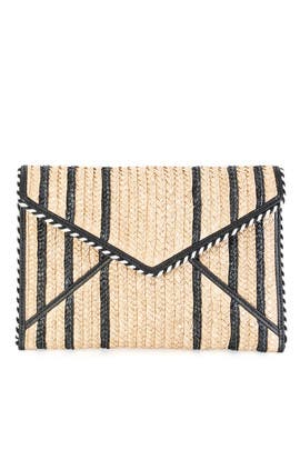 Straw Leo Clutch by Rebecca Minkoff Accessories