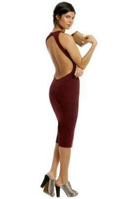 Red Velvet Sheath by Cushnie Et Ochs