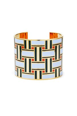 Geo Enamel Cuff by Tory Burch Accessories
