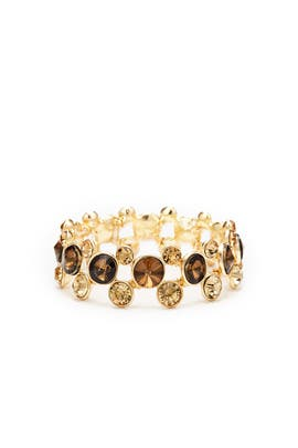 Gold Shadow Circle Bracelet by Slate & Willow Accessories