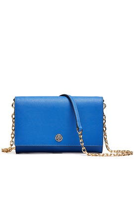 Blue Robinson Chain Wallet by Tory Burch Accessories