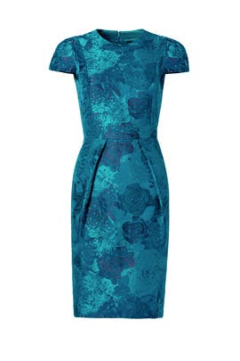 Carmen Marc Valvo - Teal Envelope Dress
