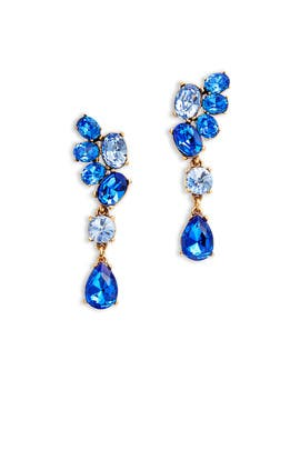 Asymmetrical Crystal Earring by Oscar de la Renta