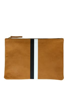 Caramel Flat Clutch by Clare V.