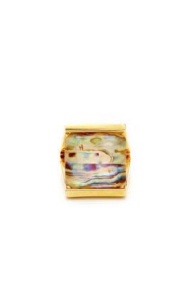 Abalone Bedrock Ring by Lele Sadoughi