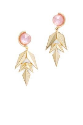 Modern Petal Chandelier Earrings by Sarah Magid