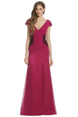 Bibhu Mohapatra - Pinot Noir Gown