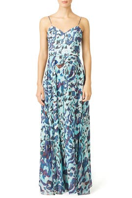 Camo Sea Maxi Dress by Hunter Bell