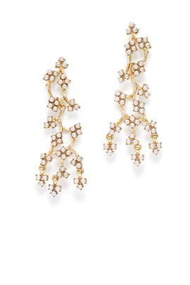 Ivory Pearl Jackie Drop Earrings by Lulu Frost