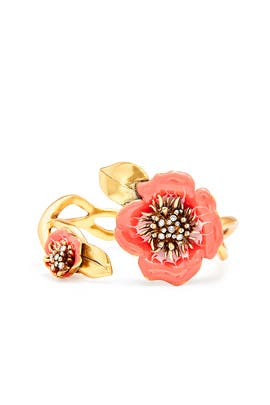 Painted Flower Bracelet by Oscar de la Renta