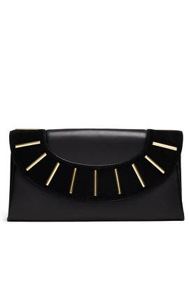 Leather Bar Envelope Clutch by Diane von Furstenberg Handbags