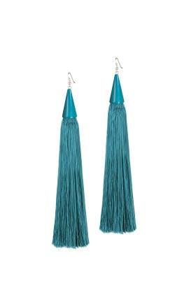 Blue Tassel Cone Earrings by Eddie Borgo