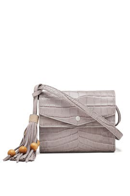 Grey Eloise Field Bag by Elizabeth and James Accessories