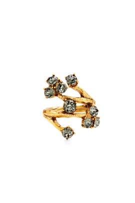 Crystal Branch Ring by Oscar de la Renta