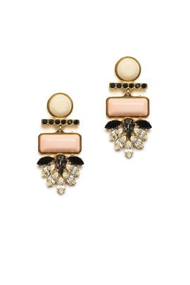 Mexico Dahlia Earrings by Lizzie Fortunato