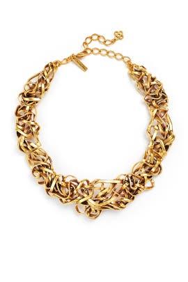 Oscar de la Renta - Gold Ribbon Necklace