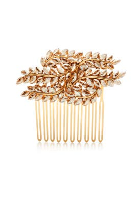 Crystal Leaves Gold Comb by Ben-Amun