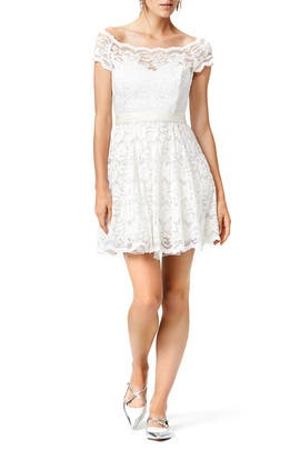 Vision in White Dress by Badgley Mischka