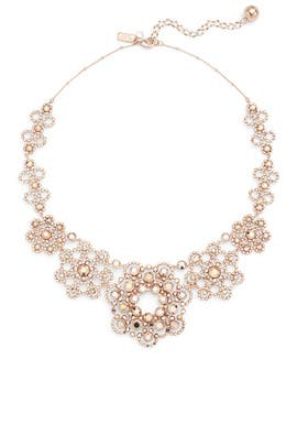 Rose Gold Crystal Lace Necklace by kate spade new york accessories