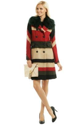 rag & bone - Taj Stripe Wool Windsor Coat
