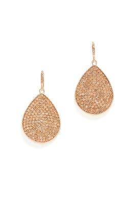 Copper Teardrop Earrings by Slate & Willow Accessories
