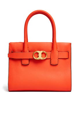 Orange Gemini Link Small Tote by Tory Burch Accessories