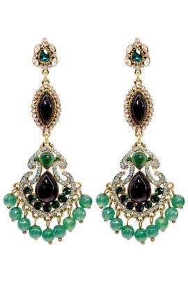 Entrancing Emerald Earrings by Badgley Mischka Jewelry