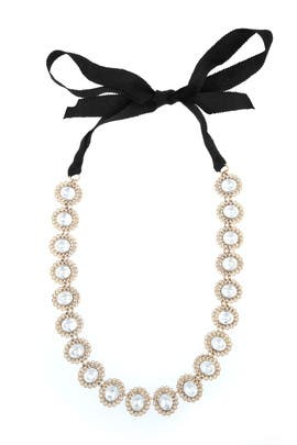 Tie Up in Crystal Necklace by Lee Angel