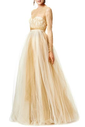 Marchesa Notte - Dipped in Gold Gown