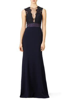 Theia - Deep Midnight Gown