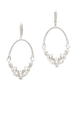 At First Sight Crystal Earrings by Jenny Packham