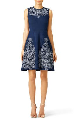Navy Lotus Moon Dress by Yoana Baraschi