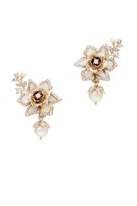 Eternal Garden Flower Drop Earrings by Marchesa Jewelry