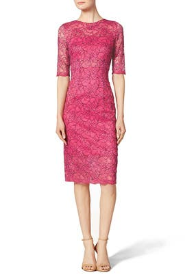 Sheer Lace Sheath by ML Monique Lhuillier