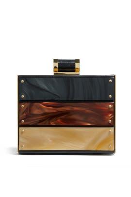 Halston Heritage Handbags - Tortoise Paneled Minaudiere