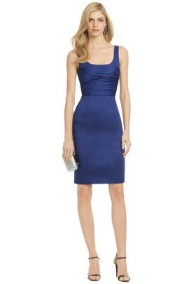 Moschino Cheap And Chic - Blue Rose Bodice Sheath