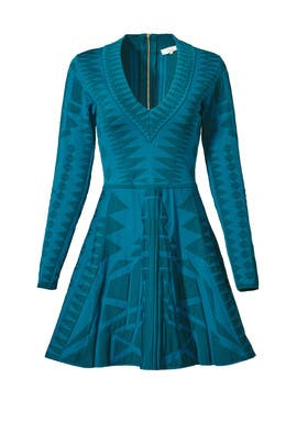 Parker - Teal Napa Knit Dress