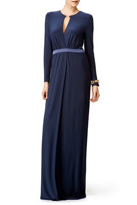 Navy Knot Gown by Halston Heritage