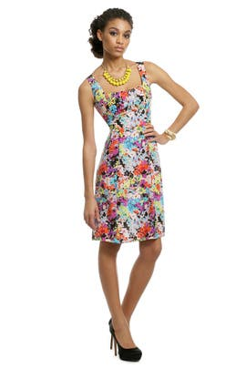 Psychedelic Floral Dress by Nanette Lepore
