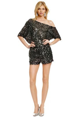 Sequin Disco Romper by Robert Rodriguez Collection