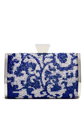 Blue Mackenzie Minaudere by Badgley Mischka Handbags