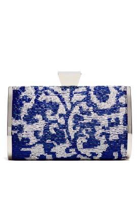 Blue Mackenzie Minaudere by Badgley Mischka Handbags