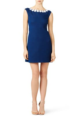Navy Daisy Dress by BOUTIQUE MOSCHINO
