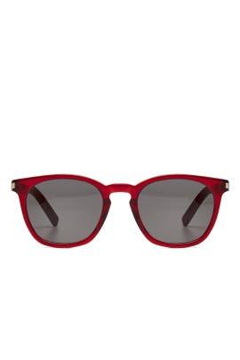 Translucent Red Sunglasses by Saint Laurent