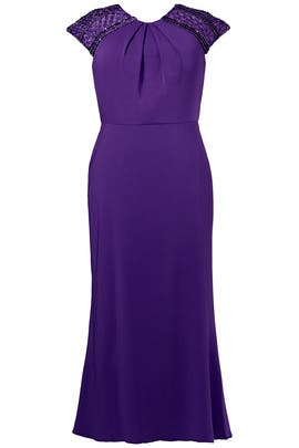 Royal Capsleeve Gown by Badgley Mischka