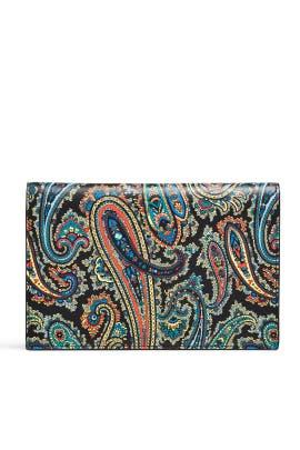 Barton Black Large Flat Pouch by Diane von Furstenberg Handbags