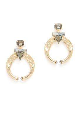 Marble Blue Romy Earrings by Elizabeth Cole