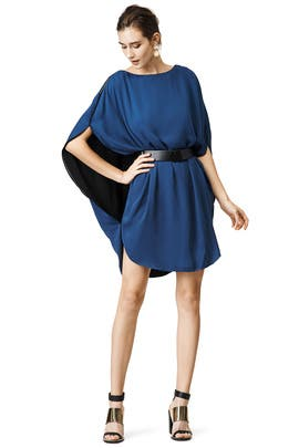 Caped With Envy Dress by Halston Heritage